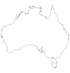Outline map of Australia vector image