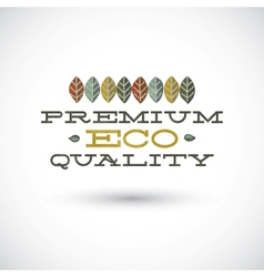 Premium Eco Quality Sign vector image