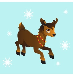 Santas reindeer vector image vector image