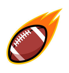 sport ball fire american football vector image