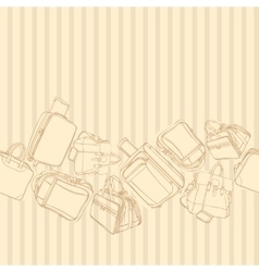 background with shopping bag vector image