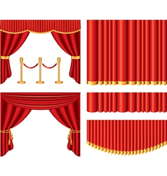curtains set vector image
