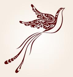 decorative bird vector image vector image