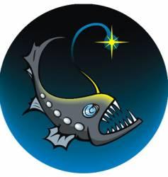 deep sea angler vector image vector image