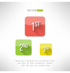 First second and third place icons made in modern vector image