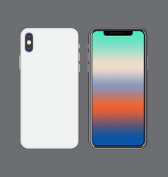 template smartphone mock up vibrant colorful vector image vector image