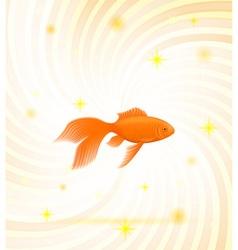 gold fish 01 vector image