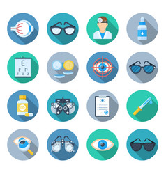 Ophthalmology icon set vector