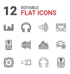 12 stereo icons vector