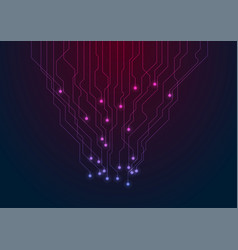 abstract neon blue purple tech circuit board lines vector image