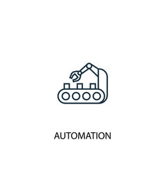 automation concept line icon simple element vector image