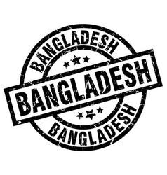 Bangladesh black round grunge stamp vector