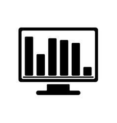 Bar chart monitoring icon vector
