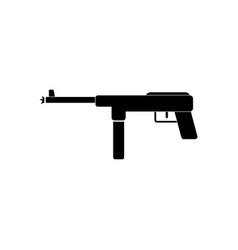 Black icon on white background military machine vector