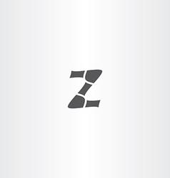 black icon z letter design vector image