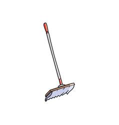 blue mop icon vector image