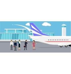 Boarding the Plane Flat Design vector image