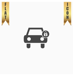 car lock icon vector image