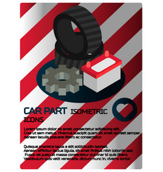 car part isometric poster vector image