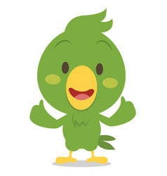 Cartoon parrot character vector