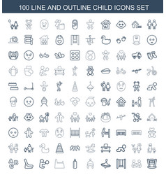 child icons vector image