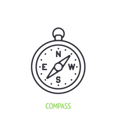 compass outline icon navigation equipment vector image