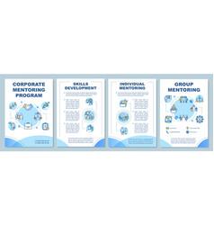 Corporate mentoring program brochure template vector