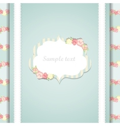Cute blue and pink happy birthday card vector
