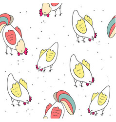 cute print with birds vector image