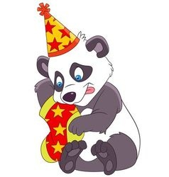 cute xmas cartoon panda vector image