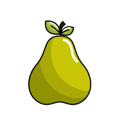 Delicious pear fruit icon vector