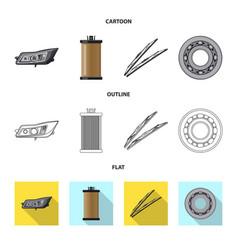 Design auto and part logo set auto vector