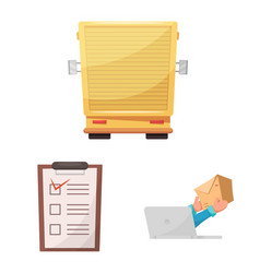 design of goods and cargo logo collection vector image