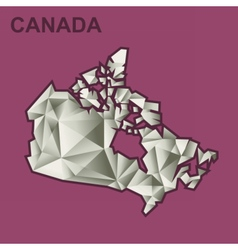 Digital canada map with abstract vector image