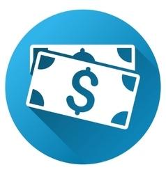 Dollar Banknotes Gradient Round Icon vector image