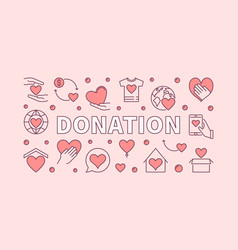 donation pink horizontal donating vector image