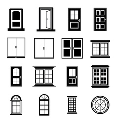 Door and window vector