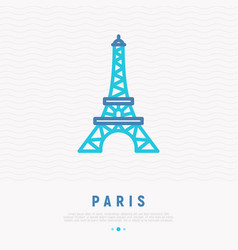 eiffel tower thin line icon vector image