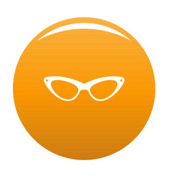 Elegance eyeglasses icon orange vector