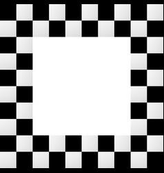 Empty squarish checkered frame border vector