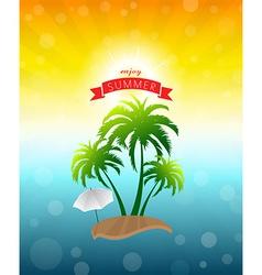 Enjoy summer vector image