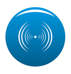 Equalizer abstract icon blue vector