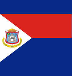 Flag of sint maarten in official rate and colors vector