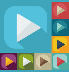 Flat modern design with shadow icon player vector