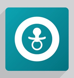 flat nipple icon vector image