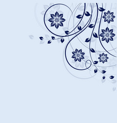 floral background in blue vector image