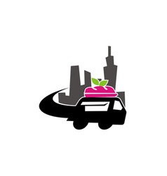 food car mobile city vector image