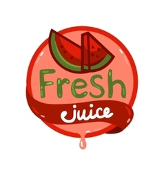 Fresh juice emblem 11 vector