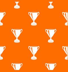 Goblet pattern orange vector