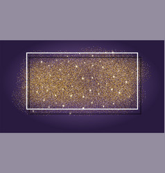 Gold glitter background abstract sparkle sequin vector